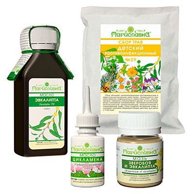 Лечение синусита травами